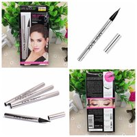 Wholesale Maxi Long Free Shipping - Brand Fashion Makeup Eyeliner Pen WaterProof Black Ink Single Mistine Eye Liner Pencil MAXI black Cosmetic Eye Pencil 50pcs free shipping