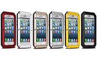 ingrosso caso per iphone5 nuovo-Nuovo impermeabile Dropproof alluminio + Gorilla Glass + Custodia in silicone per iPhone5 5s 5c 6 6s 4.7 più 5,5 pollici posteriore Custodia in metallo