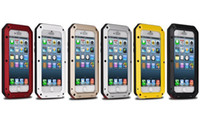 iphone5 için yeni toptan satış-Yeni Su Geçirmez Suya Dayanıklı Alüminyum + Goril Cam + Silikon Telefon Kılıfı için iPhone5 5 s 5c 6 6 s 4.7 artı 5.5 inç Geri Metal Kapak vaka