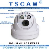 TSCAM SP-P1802SWPTR Full HD 1080P 2.0MP Wifi Dome IP Camera PIR com bandeja / Tilt TF / Micro SD Slot para cartão ONVIF