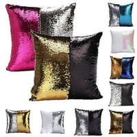 Wholesale Textiles Knitting Yarn - Wholesale- Pillow Case Home Textile Mermaid Pillow Cover, Reversible Sequin, Magic, Swipe, 16