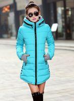 Wholesale Ladies Down Coat Medium - Women's Jacket Winter 2016 New Medium-Long Down Cotton Parka Plus Size Coat Slim Ladies Casual Clothing Hot Sale