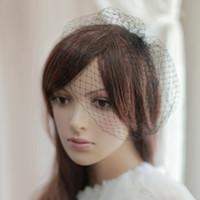 Wholesale birdcage veils resale online - White Black Birdcage Veils For Brides Wedding Accessories Short Bridal Veil Velos De Novia Birdcage Veil With Comb