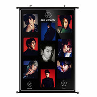 Wholesale Youpop KPOP EXO Album K M EX ACT Monster Non woven Poster Wall Hanging Painting Wall Picture Flip Chart DHB003