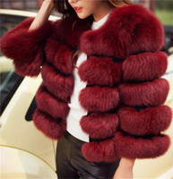 Wholesale Fox Fur Strips - Good quality New Fashion Luxury Fox Fur Vest Women Short Winter Warm Jacket Coat Waistcoat Variety Color For Choice