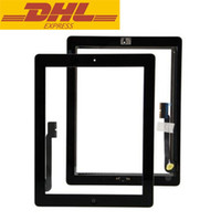 Wholesale Ipad Glass Home - Touch Screen Glass Digitizer Assembly For iPad 3 With Home Button +Button Flex + 3M Adhesive Sticker Wholesale