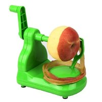 Wholesale Slinky Machine - 2016 hot sale 1pc new useful Green New Apple Slinky Peeler Corer Cutter Manual Machine Creative kitchen gadgets