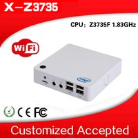 Wholesale Mini Pc 32g Ssd - Wholesale-New 2016 Atom MINI PC Gaming computer Nettop PC Z3735F 1.33GHZ Support RS232 with 2G ram and 32G ssd