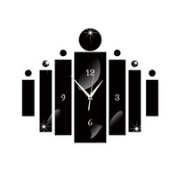 reloj de pared moderno nuevo diseño al por mayor-2016 nueva Aguja espejo reloj de pared sala de estar acrílico cuarzo diseño moderno 3d diy reloj relojes pegatinas envío gratis horloge TY2004