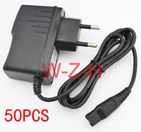 Wholesale Shaver Plugs - 50PCS High quality 15V 360mA & 380mA 2-Prong EU or US Wall Plug AC Power Adapter Charger for PHILIPS Shaver HQ8505 HS8020 HQ8875 S20