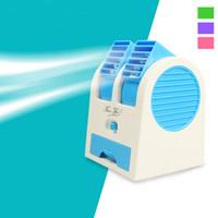 sessiz usb fanı toptan satış-Taşınabilir USB Ultra-sessiz Hiçbir Yapraklar Mini Klima Fanı Aromaterapi Fan ventilador ar condicionado klima