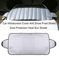 Wholesale Ice Car Cover - Wholesale- Practical Car Windscreen Cover Anti Ice Snow Frost Shield Dust Protection Heat Sun Shade Ideally for Front Car Windshield Hot