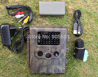 Baterías De Cámaras De Caza Baratos-SunTek HT-002LIM Lion Battery 12MP HD IR Wildlife GPRS / MMS Hunting Trail Camera envío gratis