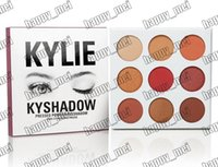 Wholesale Palette 66 - Factory Direct DHL Free Shipping New Makeup Eyes Kylie KyShadow Pressed Powder Eyeshadow The Burgundy Palette 9 Colors Eyeshadow!66