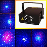 Wholesale Twinkling Party Disco Light - Blong M-100 Twinkling Star Laser Light Stage Lighting 250mW Red&Bule Laser DJ Party Stage Light Black Disco Dance Floor Lights