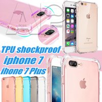 Coussins De Téléphone Portable Pas Cher-Pour 7 Coque Iphone coussin d'air transparent antichoc design TPU mobiles Cas de téléphone pour Iphone7 plus Iphone 6S Back Cover