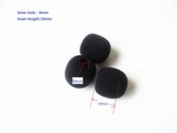 Wholesale Sponge Mic - Foam Microphone Windscreen, mic sponge cover , 9mm inner diameter & 18mm inner length , 10 pcs  lot, Singapore Post
