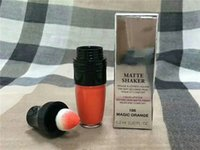 Wholesale orange light lip gloss - Famous Brand Matte Shaker Liquid Lipstick Lip Gloss Magic Orange 6.2ml 0.2OZ