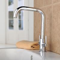 Wholesale single hole led faucet resale online - Sanitary faucet hardware carried Kai copper chrome degree swivel washbasin leading direct selling