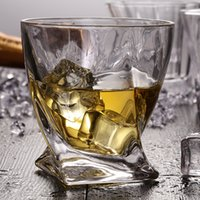 Wholesale Beautiful Cups Glasses - Beautiful Twist Whisky Glasses 120ml Drinking Beer Water Wine Brandy Vodka Stylish Bottom Beautiful Decoration Cheap Price