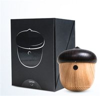Wholesale Reflective Straps - Nut Speaker Wooden bluetooth mini Unique Design with Built-in Microphone & Strap Wood Loudspeaker for iPhone & Android Retail Box