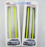 Wholesale Thin Fog Lights - 17cm 12V Ultra-thin COB Chip LED Car Auto DRL Daytime Driving Running Fog Light Lamp Color white   ice blue   blue
