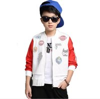 Wholesale Boys Blazer Blue 12 - Optional bomber jacket, children's clothing fashionable coat 5-16 y children of children's sports big boy the blazers outdoor clothin Bpod20