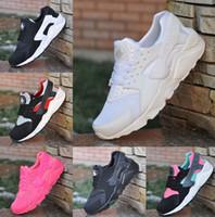 Wholesale Denim Top Lace - Top-quality women men Huarache Sport Sneakers Running Shoes Couple Shoes Size EUR 36-47 Easily breathable tennis tourism Casual shoes