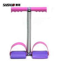 Wholesale Gym Body Building Equipment - Slimming spring Resistance Bands Tube Workout Exercise Gym Yoga Sets Fashion Body Building Fitness Equipment Tool Foot pedal Chest expander