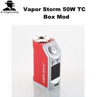 Wholesale Mechanical Control - Escription For Vapor Storm 50W TC Box Mod Mechanical-temperature Control Mod 50W Battery Built in Free Shipping