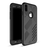 Wholesale Light Protectors - For Apple iphone X iphone8 8 plus Steel armor TPU+PC cell phone protector cases free DHL