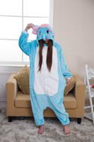 Wholesale Kigurumi Elephant Onesie - Adult cartoon animal elephant onesie onesies pajamas kigurumi jumpsuit hoodies sleepwear for adults wholesale order welcomed