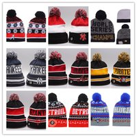 Wholesale Dodger Beanies - Hot 2017 New Winter Beanie Hats for Men women MLB Los Angeles Dodgers Knitted Beanie Wool Hat Man Bonnet Gorros touca Thicken Warm Cap