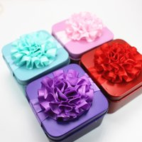 Wholesale Red Party Favor Pails - New wedding boxes gift favor box purple red blue pink favor box for candy party decoration packing