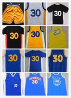 Wholesale Dropshipping S - 2016 Stitched Basketballl Jerseys #30 Curr y White Blue Black Yellow Jersey accept Mix Order do dropshipping Rev 30 Embroidery