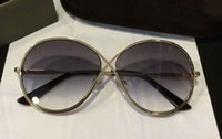 Wholesale Tom New Cat - Women Designer TOM Silver Grey Gradient Sunglasses MOD 0564 Fashion Brand Sunglasses New with Box