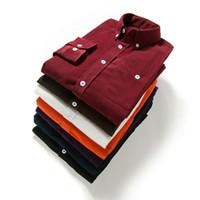 Wholesale Corduroy Shirt Dresses - Shirts Men Long Sleeves Corduroy Dress Shirt Casual Men's Shirt 2107 Brand Fashion Solid Color Male Slim Fit Shirt 5XL