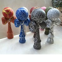 Christmas painted christmas ball - more than Colors cm cm Fashion Standard Wooden cm Full Crack Paint Kendama Sword Ball sport toys Christmas gifts