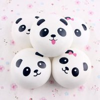 Cute Panda Elastic PU Jumbo 10CM Colossal Squishy Cream Perfumado Rising Mobile Phones Straps Bag Pendant CCA7049 50pcs