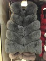 Wholesale Vest Fur Real Fox - 100% real fox fur vest full pelt fox fur vest women coat