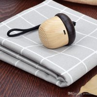 Wholesale Small Music Speakers Usb - Small Size Mini Nut Shape Bluetooth Speaker with Hands-free Function and Wood-grain Printing, Music Playing about 10 Hours by AVWOO Factory