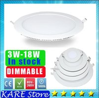 Wholesale Kare Lighting - kare real power LED Dimmable 3W 4w 6W 9W 12W 15W 18W 21w Led panel Ceiling Recessed Grid 85-265V Downlight Ultra thin 2835 SMD Light Lamps