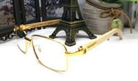 Wholesale wood legs sunglasses online - 2018 vintage retro designer sunglasses wooden frame rimless sun glasses for womens arrow glasses wood legs with cases sunglasses