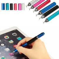 tabletten zum verkauf großhandel-Großverkauf-2016 bester Verkauf 2in1 kapazitiver Touch Screen Schreibkopf-Kugelschreiber für iPhone iPad Samsung-Tablette-Rosa-Farbe