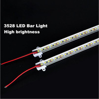 ingrosso slot in lega di alluminio-50 cm Led Bar Light Tipo U Alluminio Slot a Led Strisce rigide Luce Warm / Pure / Cool White 60 LED SMD3528 Hard LED Strips 12V