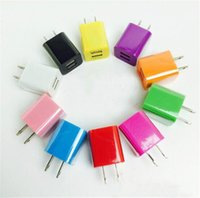 Wholesale Dual Usb Dc Charger - Colorful AC DC adapter mobile phone charger dual USB Charger High-Power 2.1A fast charge for Samsung smartphone