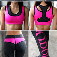 Hüfte Yoga Kleidung Kaufen -PINK Yoga Sets Hosen Sportkleidung Leggings Sexy Pfirsich Hüften Form Gym Clothes Running Workout Patchwork Fitness Strumpfhosen schnell Versand M975