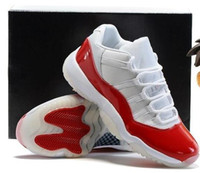 Wholesale Hot Plush - Wholesale Retro 11 2016 hot sale retro 11 white red Low Varsity Red DS Cherry XI PREe Men Women free shipping