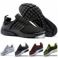 Wholesale Mens Road Cycling Shoes - Mens Air Presto Road Running Shoes Black Blue Fashion Athletic Sneakers Mens Activewear Cross Trainning Basketball Shoes With Box