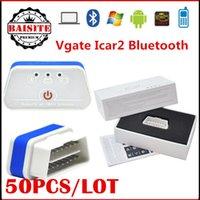 peugeot interface Australia - 2016 20pcs Wholesale Price Vgate iCar 2 Bluetooth elm327 OBD2 OBDII Scanner iCar 2 icar2 elm 327 Bluetooth Diagnostic Interface for android